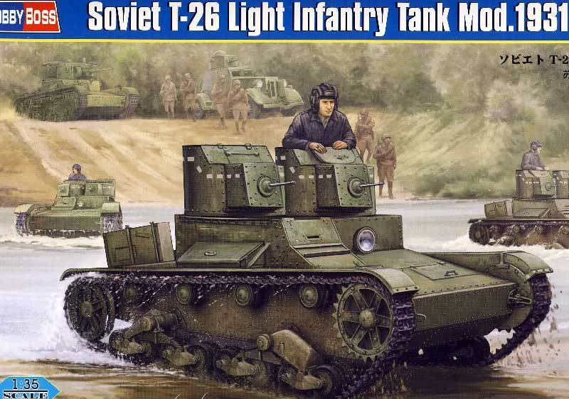 Hobbyboss Soviet T-26 Light Infantry Tank Mod.1931 Lights Tank 1 3 5 Model