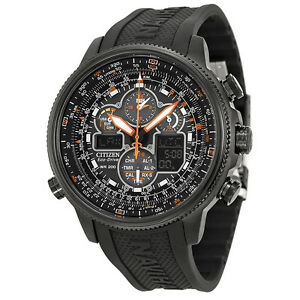 Citizen Navihawk A T Black Dial Black Rubber Mens Watch JY8035 04E