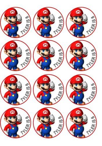 PERSONALISED Super Mario  FRUIT SHOOT BOTTLE LABEL Party Bag Fillers