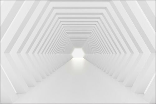 Fabelhafte 3D Effekt VLIES FOTOTAPETE XXL Abstrakt Tunnel Geometrie 8297