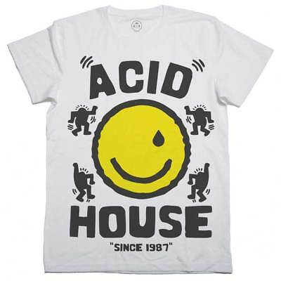GLITCH FACE T-SHIRT Smile 90/'s Acid Music Rave Party Hacienda FAC51 Dance Top