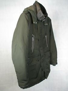 15183d1af2 Men's Green Fully Lined Parka Style Jacket - Detachable Hood by The ...