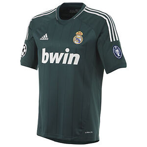 adidas Real Madrid 2012 - 2013 Third UEFA Champions League Soccer ... abde1a9f244bb