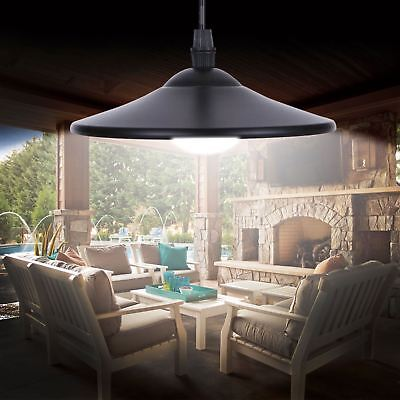 Solar Powered Hanging Garden Shed Light Lamp Outdoor