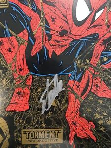 Certified-Spider-man-GOLD-COVER-1-Signed-Stan-Lee-W-COA-Spiderman
