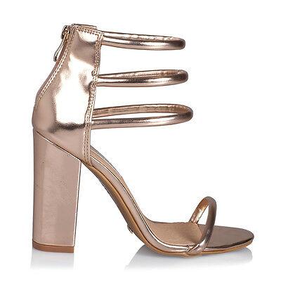 New Billini Womens Shoes Paquita Rose Gold Heels Block Heels