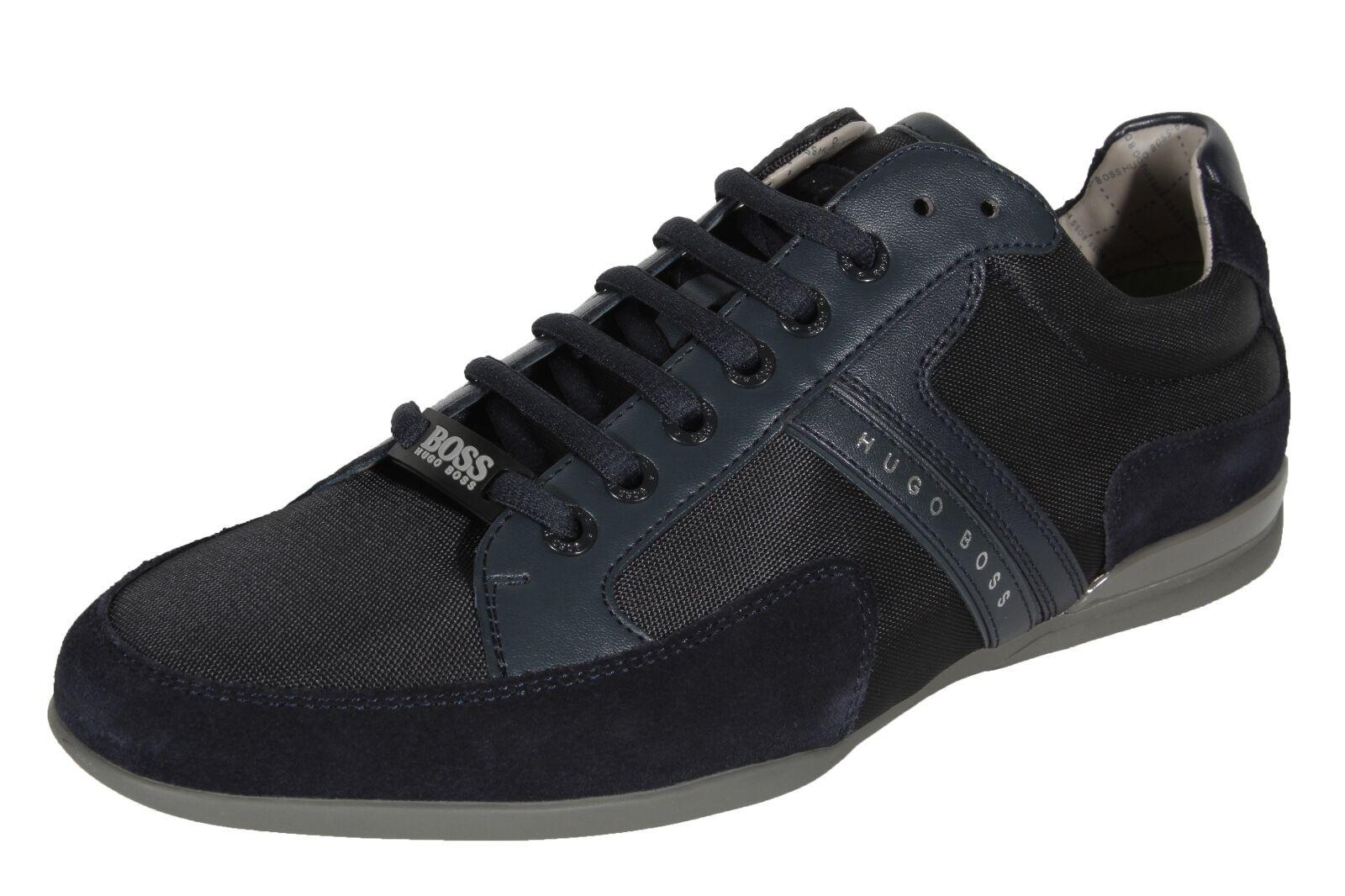 Hugo BOSS Green Spacit Men's Fashion Sneakers shoes 50247632 417 Navy bluee