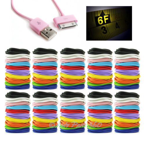 100 6FT USB SYNC DATA POWER CHARGER CABLE IPHONE 4S IPOD TOUCH CLASSIC NANO IPAD