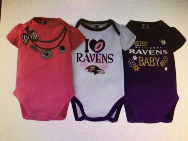 2 Pack NFL Infant Baltimore Ravens Long Sleeve Bodysuit