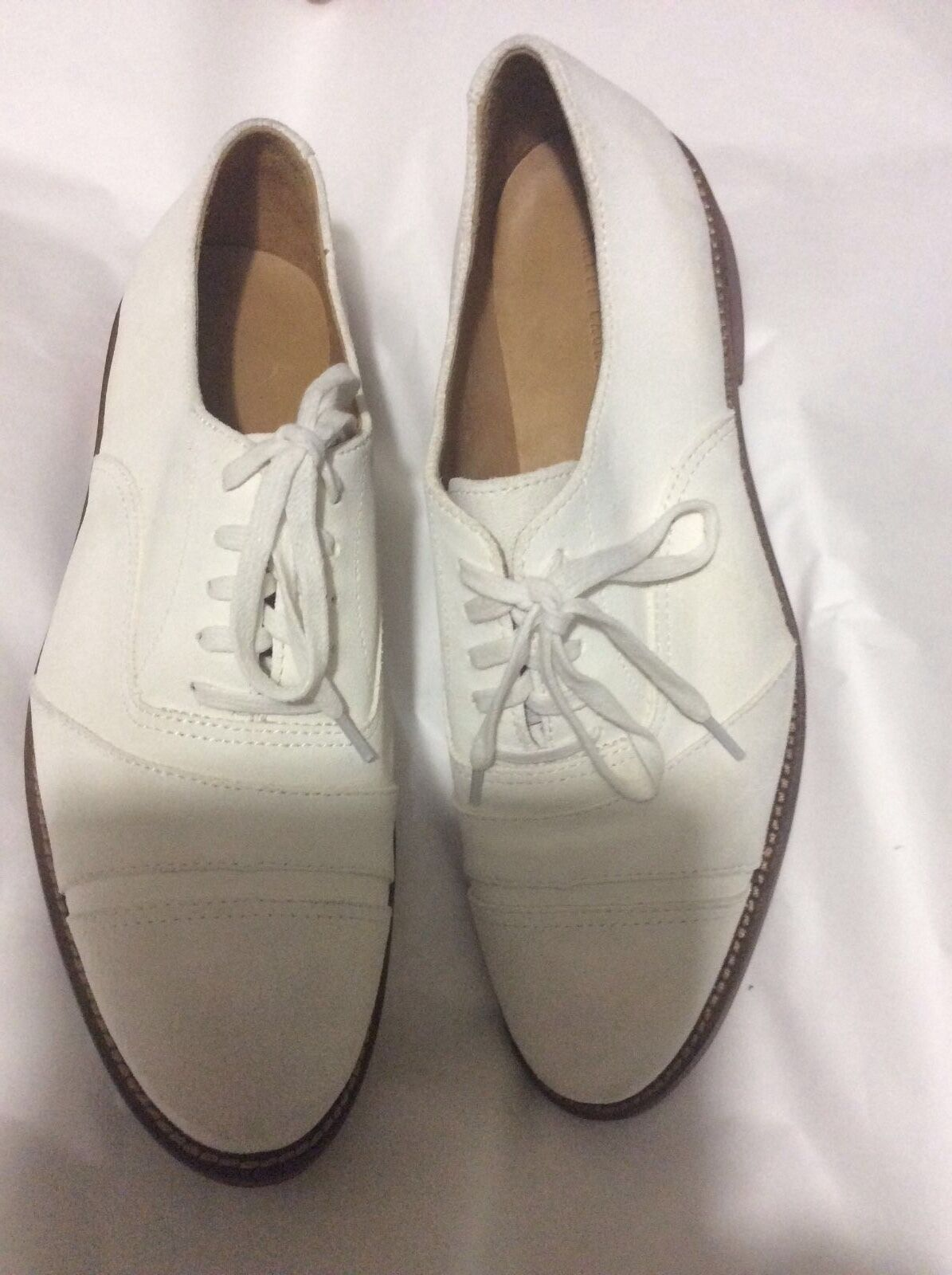 Ralph Lauren Team USA Olympic Flat White Nubuck Oxford Shoes - W10/M8