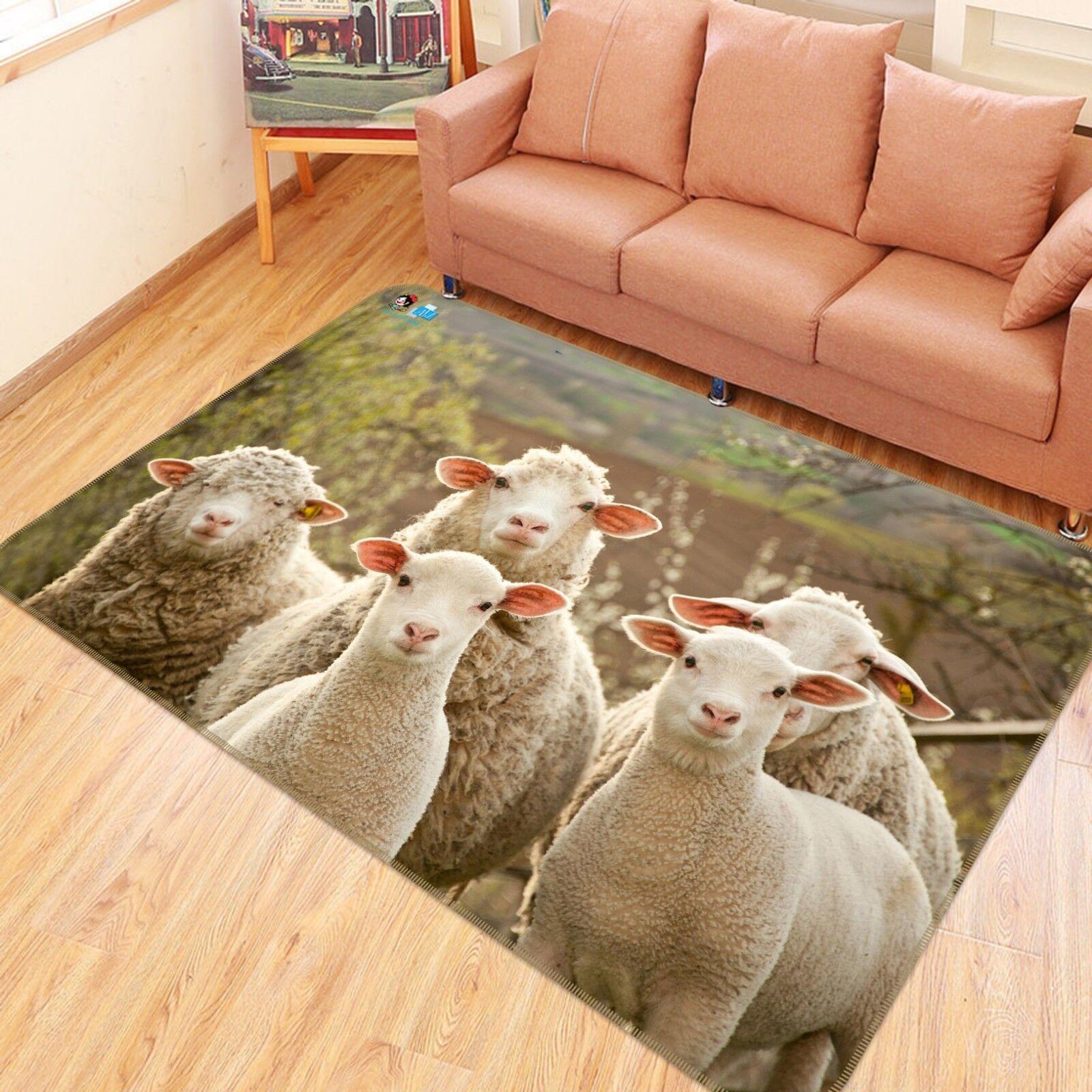 3D Sheep 12 Non Non Non Slip Rug Mat Room Mat Quality Elegant Photo Carpet UK Summer ba71d8