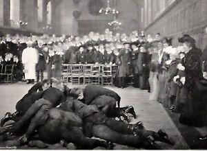 1905 Aufdruck + Text Pfannkuchen Weitwurf Bei Westminster Schule The Greeze