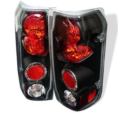 Ford 87-96 F150 F250 F350 BRONCO Black Smoke Euro Style Rear Tail Light Lamp Set