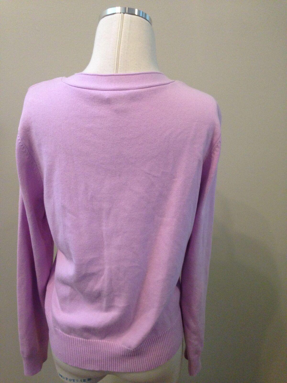 J. Jill Lilac Purple Pocket Cardigan Sweater Medi… - image 4