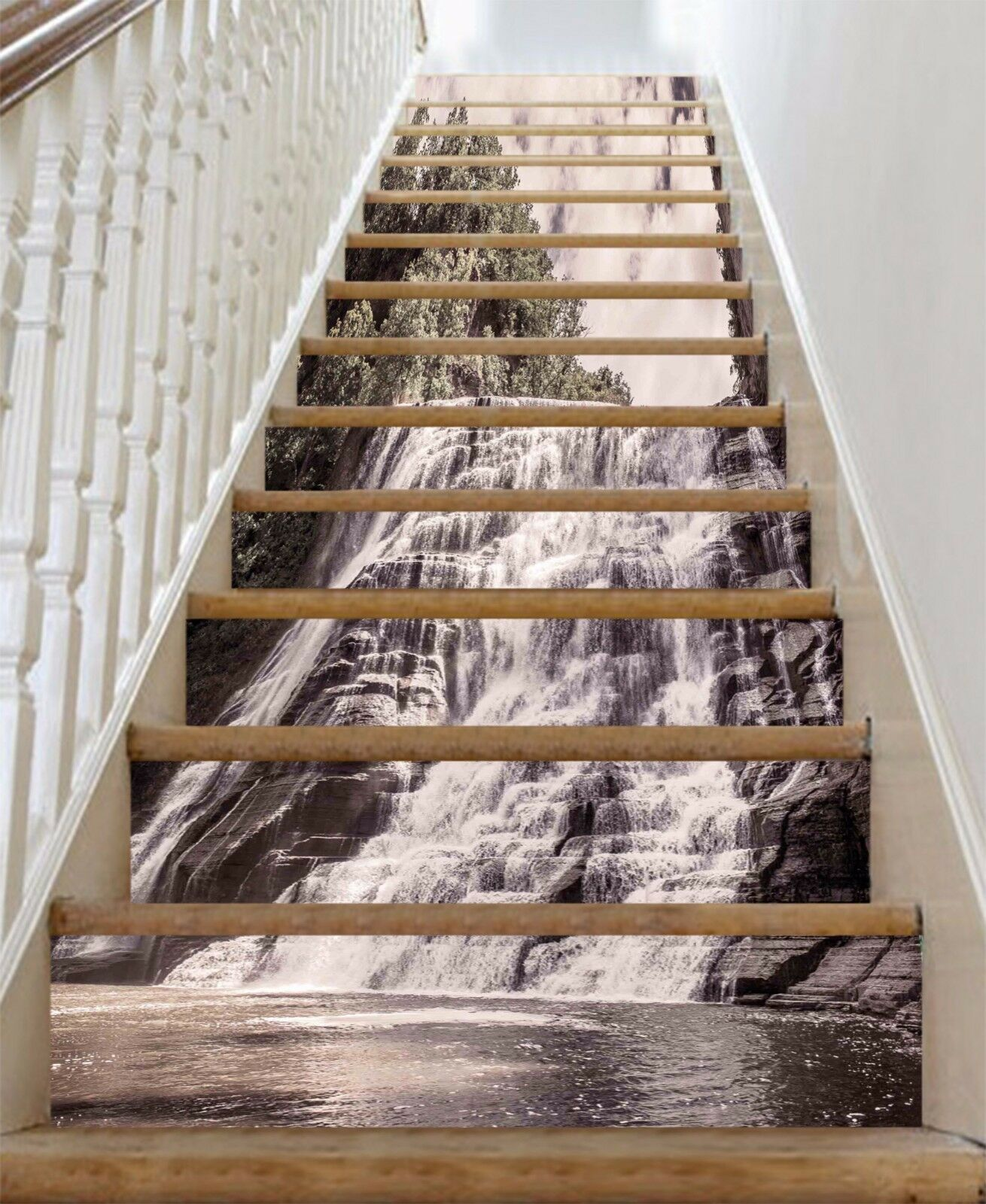 3D Waterfall 8263 Stair Risers Decoration Photo Mural Vinyl Decal Wallpaper AU