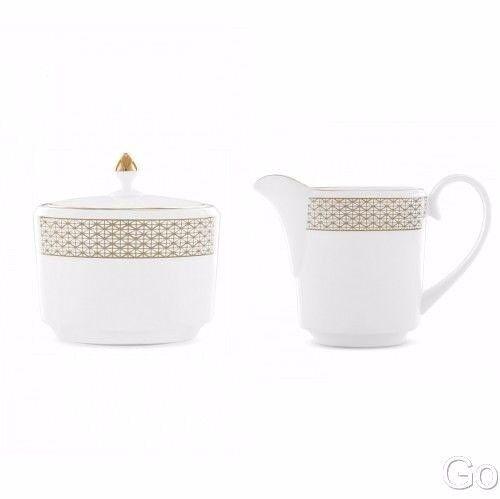 Waterford Lismore Diamond couvert sucrier et pot à lait 2 pièces neuf avec étiquette