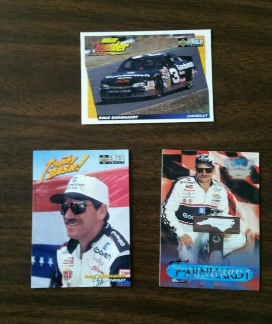 1997  U0026 1998 Dale Earnhardt Lot Of 3 Nascar Cards Collector
