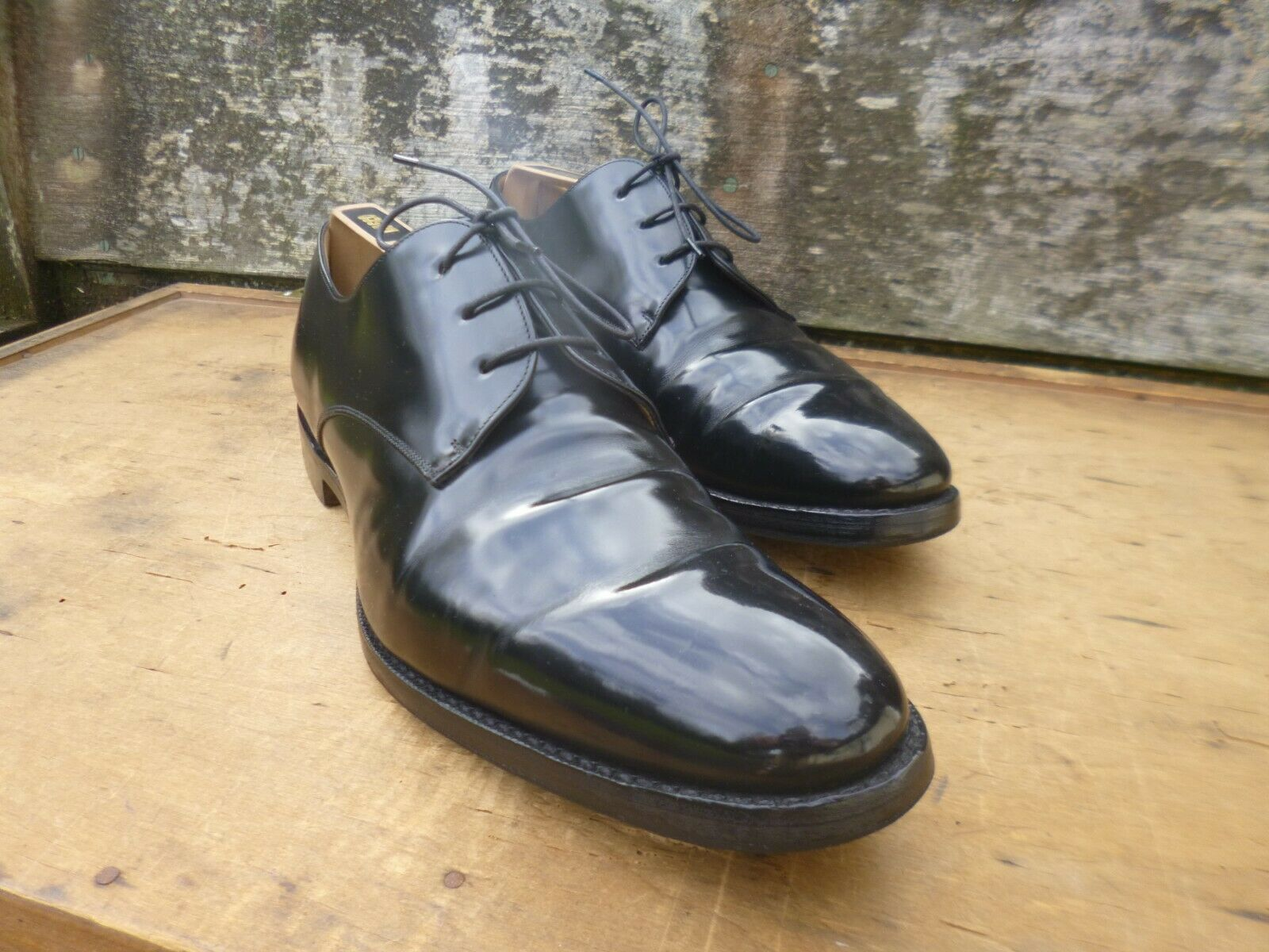 CHURCH Derby Zapatos – Negro – UK 9 – DARWIN-Excelente Estado