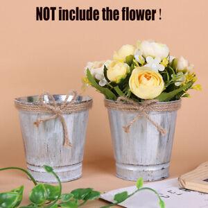 Vintage-Round-Garden-Galvanised-Metal-Plant-Flower-Planter-Pot-NR7