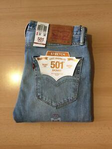 4580eff3 Levi's Men's Denim Jeans 501 Skinny Fit Stretch Button Fly Color ...