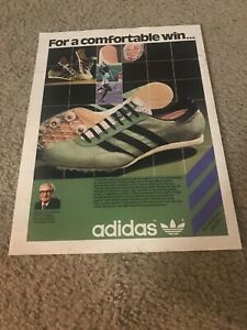Vintage 1978 ADIDAS SPIDER Track Spikes Running Shoes Poster Print Ad 1970s RARE