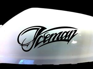NEW-Iceman-Kimi-Raikkonen-F1-Wing-Mirror-Car-Stickers-Black