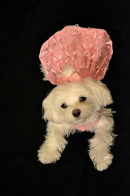 Small Little Pink Bows & Bling - Dots - Dog dress - Puppy Apparel  Clothes