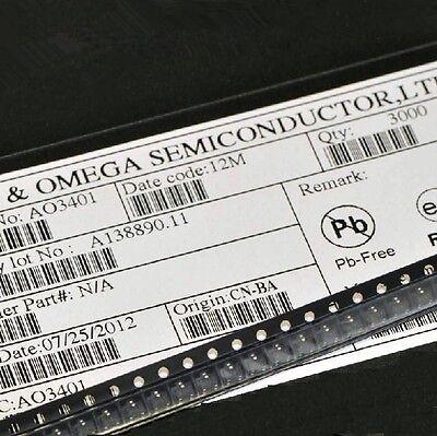 20PCS AO3401 SOT-23 P-Channel MOSFET TRANSISTORS