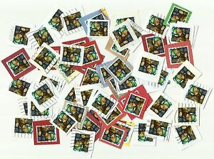 UK-56p-stamps-Christmas-2009-x-60-used-on-paper