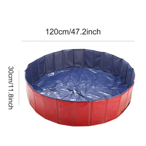"48/"" 63/"" XX Large Portable Bath Bathing Tub Collapsible Dog Pet Cat Kids Pool"