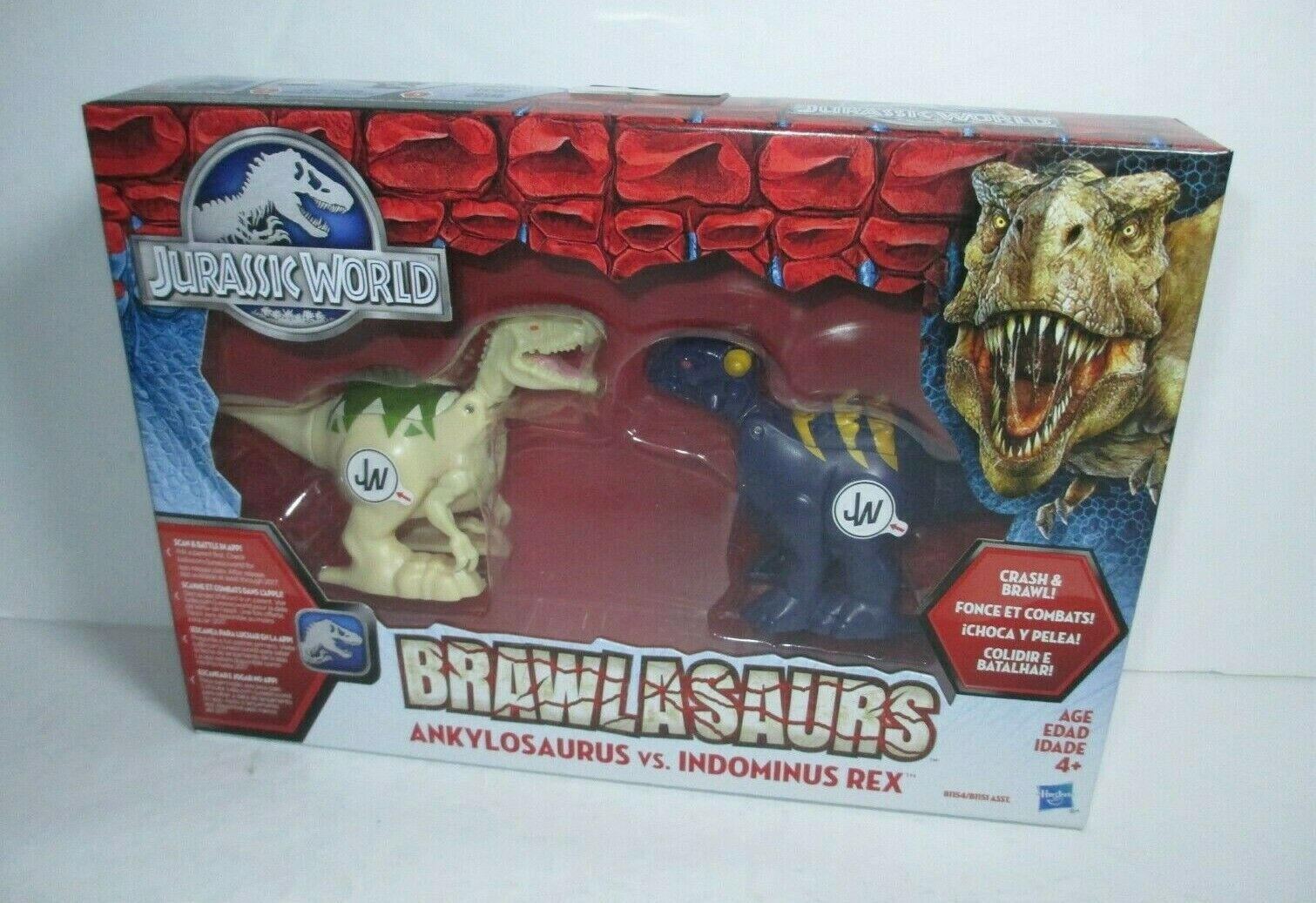 2015 Jurassic World Brawlasaurs MISB Ankylosaurus Indominus Rex Figure Pack