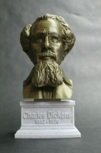 Charles Dickens 3D Printed Bust Famous Writer Art FREE SHIP