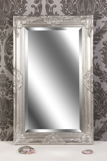 Spiegel Wandspiegel Antik Silber Barock Claire 80 X 50 Cm Ebay