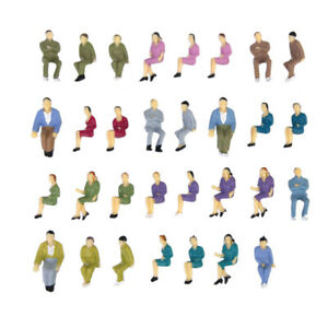 50-pcs-Painted-Model-Train-Seated-People-Passengers-Seated-Figures-O-Scale-1-50