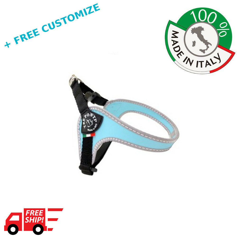 DOG HARNESSES TRE PONTI MOD. ADJUSTABLE GIRTH FOR SMALL DOGS 100% MADE IN ITALY