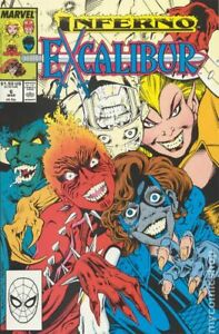 Excalibur-6-amp-7-1989-Marvel-Comics-X-Men-Inferno