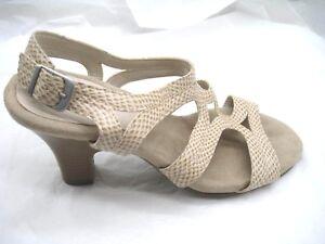 536152af1fa Image is loading Aerosoles-9M-beige-brown-slingback-sandals-womens-ladies-
