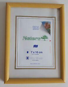 Nature-Holz-Bilderrahmen-ocker-7-x-10-cm-bis-10-x-15-cm-Foto-Rahmen-NEU