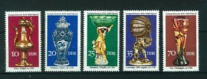 East-Germany-1976-Historical-Handicraft-full-set-of-stamps-Mint-Sg-E1885-E1889