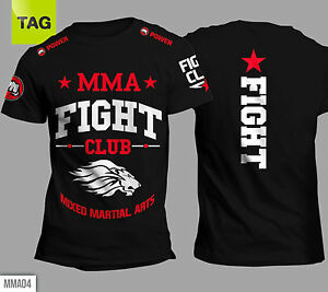 t shirt mma mixed martial arts muay thai ufc lions fight club power tees colors ebay. Black Bedroom Furniture Sets. Home Design Ideas