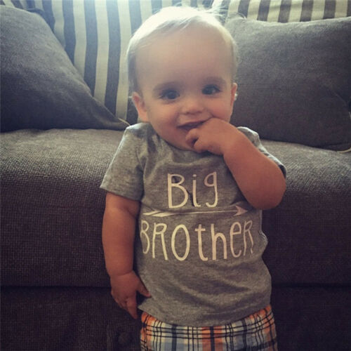 Family Matching Tops Little//Big Brother Romper T-shirt Baby Boy Clothes