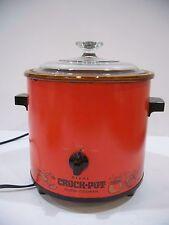 Vintage Rival Crock Pot Slow Cooker flame red orange Glass Lid Model 3100/2