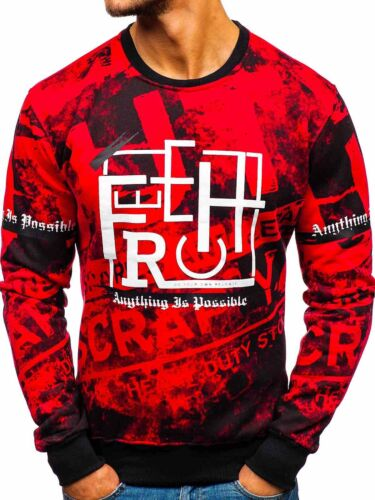Sweatshirt Pullover Langarmshirt Pulli Rundhals Herren Classic BOLF 1A1 Motiv