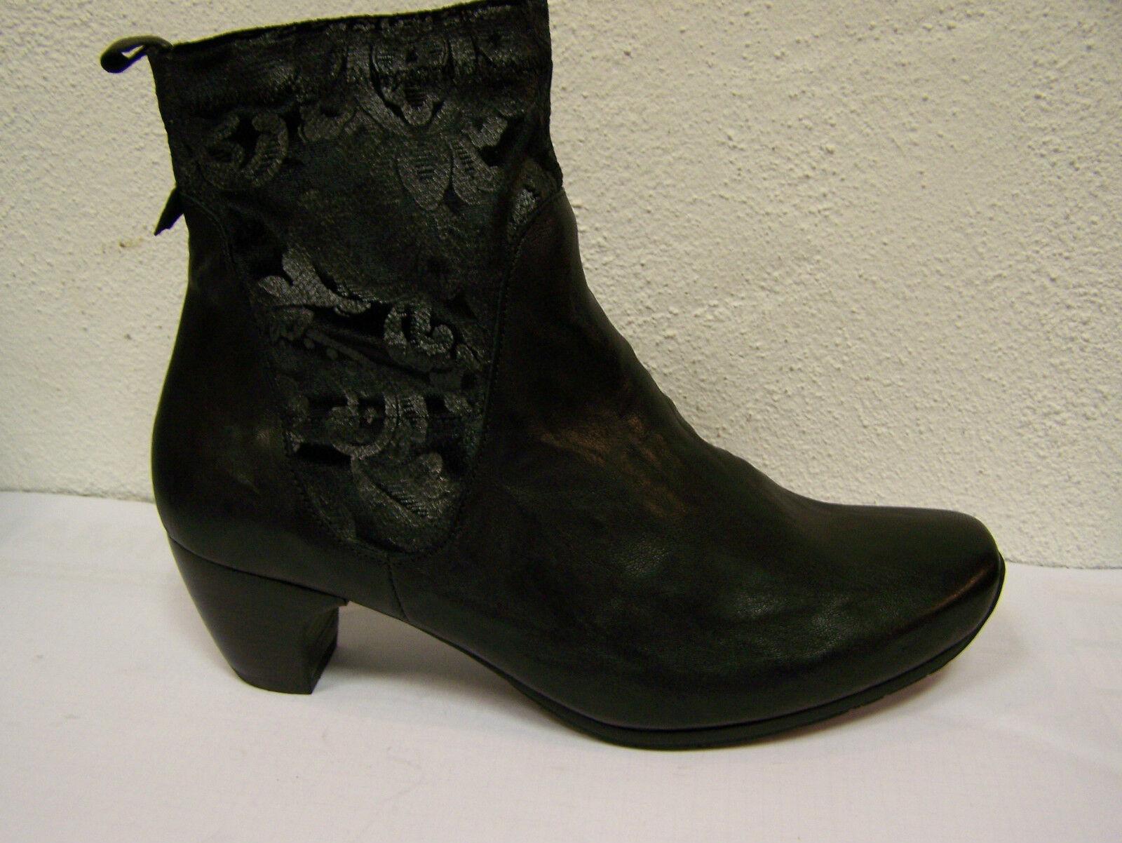 Think zapatos botas negro ana Capra rustico textil, cuero forraje think bolsa