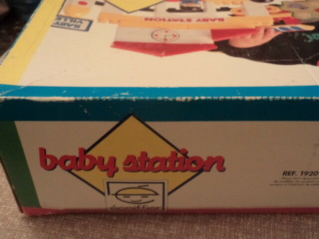 BABY STATION ECOIFFIER FRENCH JOUETS REF REF REF 1920 BUILDING TOY VTG e3aec6
