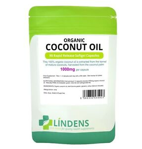 Lindens-Organic-Coconut-Oil-1000mg-2-PACK-180-Rapid-Release-Softgel-Capsules