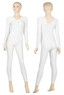 Damen Ganzanzug Rundhals lange Ärmel overall Voltigieranzug Glanz stretch shiny