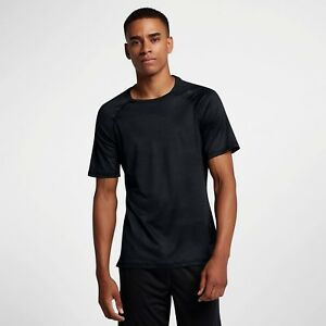 3e8013875 Nike Pro HyperCool Short Sleeve Training Top New Black Grey Men ...