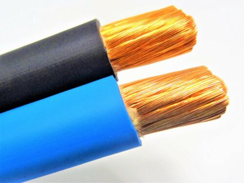 30/' FT 2 AWG GAUGE  WELDING BATTERY CAR CABLE 15/' BLACK 15/' BLUE USA NEW GROUND