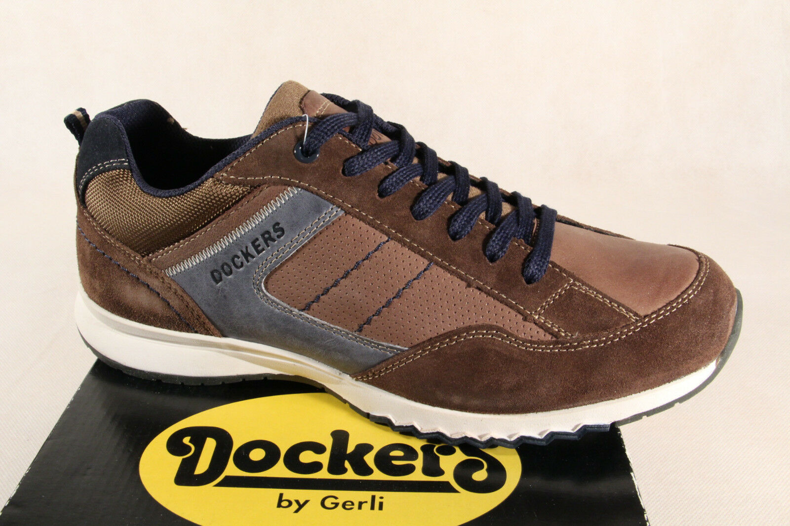 DOCKERS Zapatos Marrón De Cordones Mocasines Zapatillas Marrón Zapatos Cuero Auténtico Nuevo 28558e
